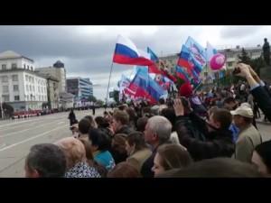 Первомайский парад в Луганске 2016