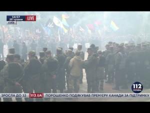 Эксклюзив «112»: Взрыв под Радой во время марша «Азова»