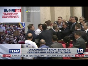 Парасюк подрался с депутатом от Оппоблока в ВР из-за А.Садового