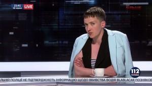 «112» — Савченко о себе: «Нельзя слепить из говна пулю…»
