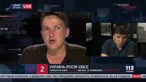«112»: Савченко просит прощения у матерей погибших боевиков